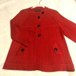 Jones New York 3/4 Sleeve Cardigan Sweater